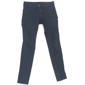 Rag and Bone Skinny Jeans Lamb Leather Trim 28